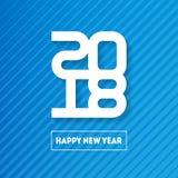 Bonne année 2018 Couverture de journal intime d'affaires pour 2018 Br de vecteur Photos libres de droits