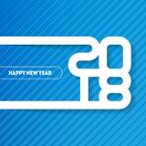 Bonne année 2018 Couverture de journal intime d'affaires pour 2018 Br de vecteur Photos stock