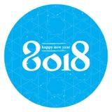 Bonne année 2018 Couverture de journal intime d'affaires pour 2018 Br de vecteur Image libre de droits