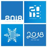 Bonne année 2018 Couverture de journal intime d'affaires pour 2018 Br de vecteur Photo stock