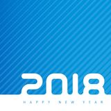 Bonne année 2018 Couverture de journal intime d'affaires pour 2018 Vecteur GR Images libres de droits