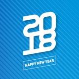 Bonne année 2018 Couverture de journal intime d'affaires pour 2018 Vecteur GR Photographie stock