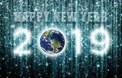 Bonne année 2019 créée des groupes d'étoile et de galaxie images stock