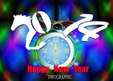 Bonne année créative 2014 Photo libre de droits
