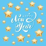 Bonne année d'étoile d'or illustration stock