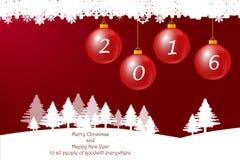Bonne année d'Ann de babioles de Noël Image libre de droits