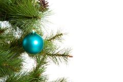 Bonne année d'isolement de décorations de Noël-arbre Image libre de droits