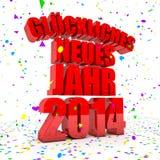 Bonne année 2014 dans des langues allemandes illustration de vecteur