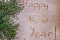 Bonne année dans la neige Image stock
