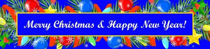 Bonne année de carte de Noël, Joyeux Noël illustration libre de droits