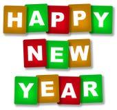 Bonne année de cartes Photo stock