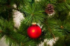 bonne année de décorations de Noël-arbre Images stock