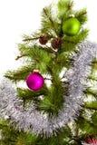 bonne année de décorations de Noël-arbre Photographie stock libre de droits