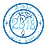 Bonne année 2018 de timbre illustration libre de droits