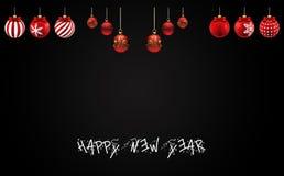 Bonne année de vecteur de Noël heureux illustration stock