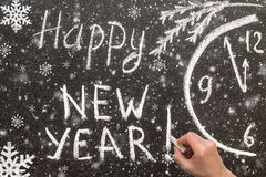 Bonne année 2017 des textes sur le tableau Photos libres de droits
