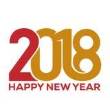 Bonne année 2018 Descripteur de carte de voeux illustration stock