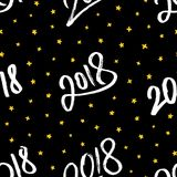 Bonne année 2018 Dirigez la configuration sans joint Photographie stock