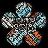 Bonne année 2018 en monde Images libres de droits