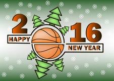 Bonne année et basket-ball Image stock