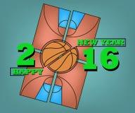 Bonne année et basket-ball Photos libres de droits
