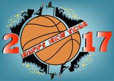 Bonne année et basket-ball Images libres de droits