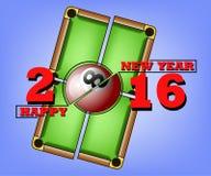 Bonne année et billard Images libres de droits