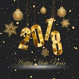 Bonne année et Joyeux Noël 2018 Image stock