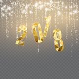 Bonne année et Joyeux Noël 2018 Photographie stock