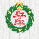 Bonne année et Joyeux Noël, illustration de vecteur illustration de vecteur