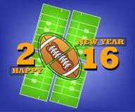 Bonne année et rugby Image libre de droits