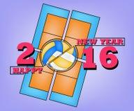 Bonne année et volleyball Images libres de droits