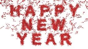 Bonne année faite à partir des notes musicales Photo libre de droits