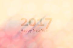 Bonne année 2017 Fond abstrait avec la tache floue de mouvement et la BO Images libres de droits