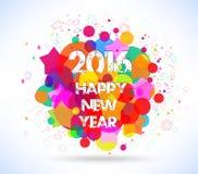 Bonne année 2016 Fond coloré abstrait Image stock