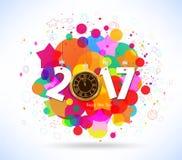 Bonne année 2017 Fond coloré abstrait Photo libre de droits