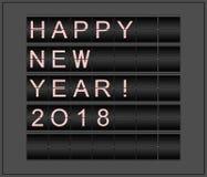 Bonne année 2018 Fond conceptuel stylisé en tant que conseil mécanique de l'information Images stock