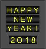 Bonne année 2018 Fond conceptuel stylisé en tant que conseil mécanique de l'information Photos libres de droits