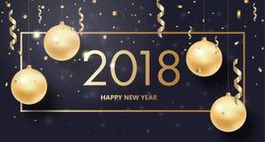 Bonne année, fond de Joyeux Noël Image libre de droits