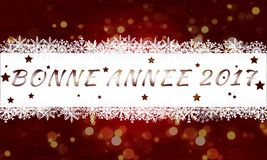 Bonne année 2017. Happy new year Royalty Free Stock Photo