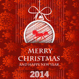 Bonne année 2014 - illustration Images stock