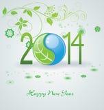 Bonne année 2014 - illustration Photos libres de droits