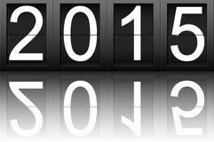 Bonne année 2015, nombre numérique Photographie stock
