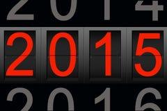 Bonne année 2015, nombre numérique Images stock
