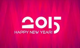 Bonne année plate abstraite 2015 de Minimalistic illustration de vecteur