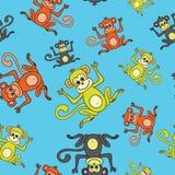 Bonne année sans couture de modèle du singe 2016 Images stock