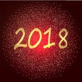 Bonne année 2018 - style de scintillement d'or Image libre de droits