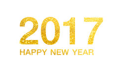 Bonne année 2017 sur le fond abstrait illustration de vecteur