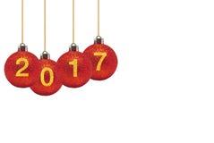 Bonne année 2017 sur le fond abstrait Images stock