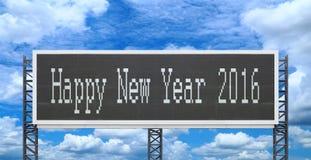 Bonne année 2016 sur le grand panneau de signe Image stock